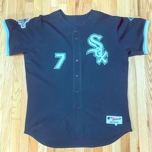 Custom Majestic Authentic White Sox jersey